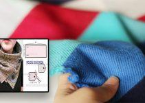 Cómo coser una bufanda de tela larga paso a paso