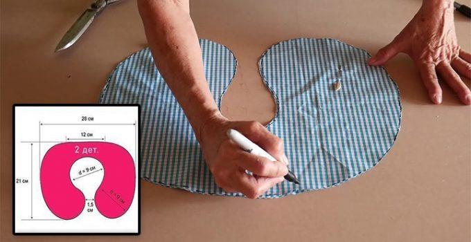 Cómo hacer un cojín para el cuello con su patrón