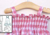 Cómo hacer un vestido fruncido con hilo elástico