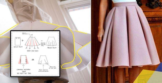 Como hacer una falda plisada con patrones básicos