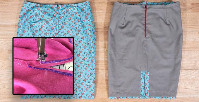 Cómo poner aberturas laterales en una falda