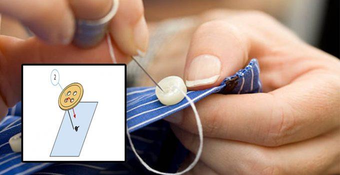 Cómo coser un botón de caña paso a paso