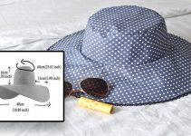 Cómo coser un sombrero para el sol reversible