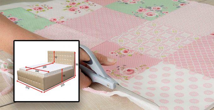 Como medir y coser una colcha con patrones