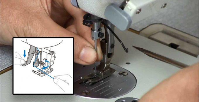 Esta es la posición de la aguja de la máquina de coser