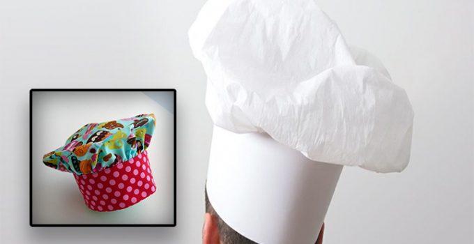 Cómo coser un gorro de cocinero paso a paso