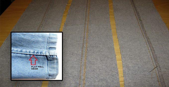 Cómo coser una costura talada plana